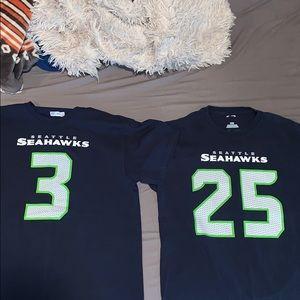 2015 NFL Seattle Seahawks combo Wilson & Sherman